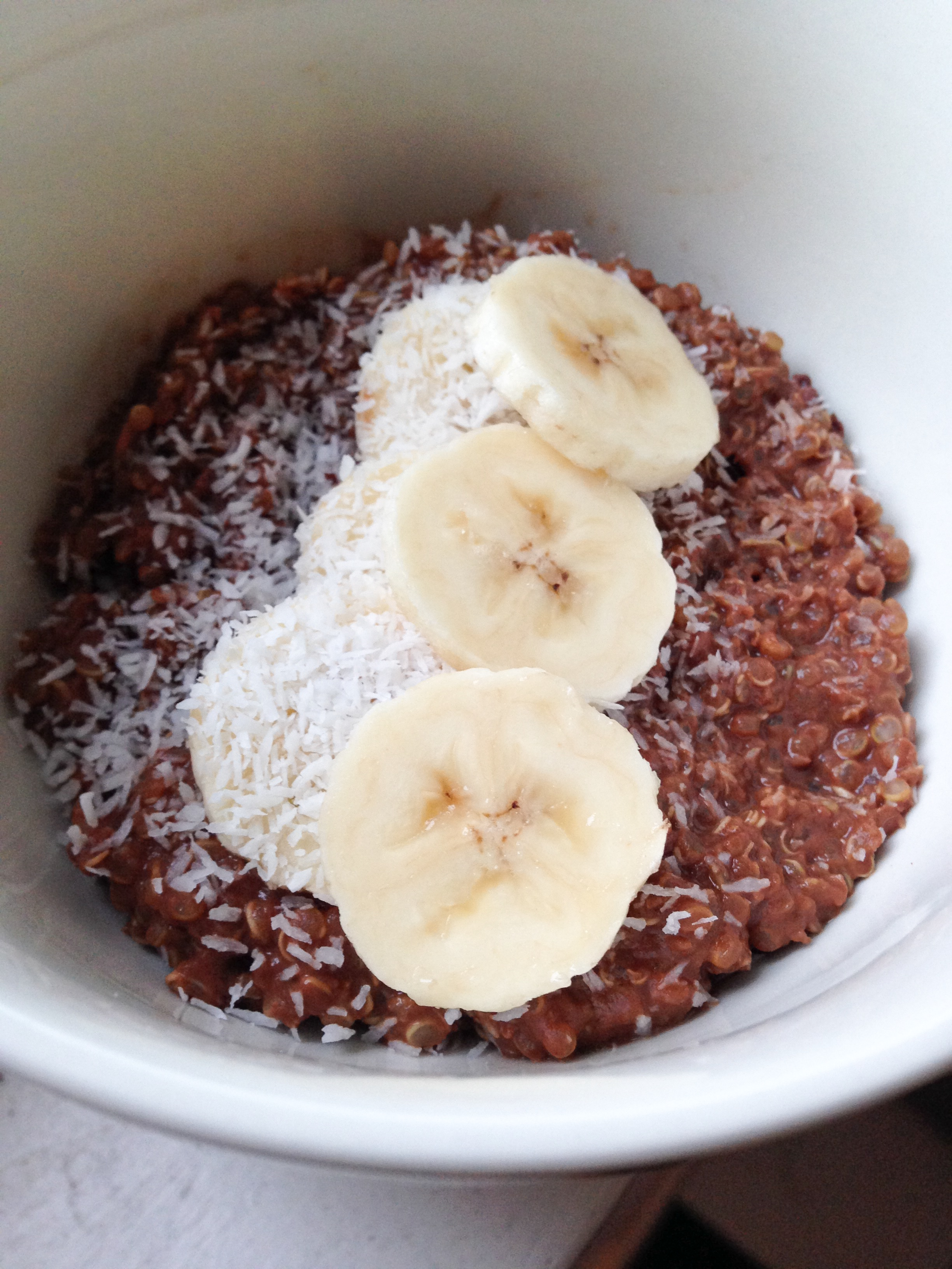 Foodie Friday: Quinoa met rauwe cacao & banaan