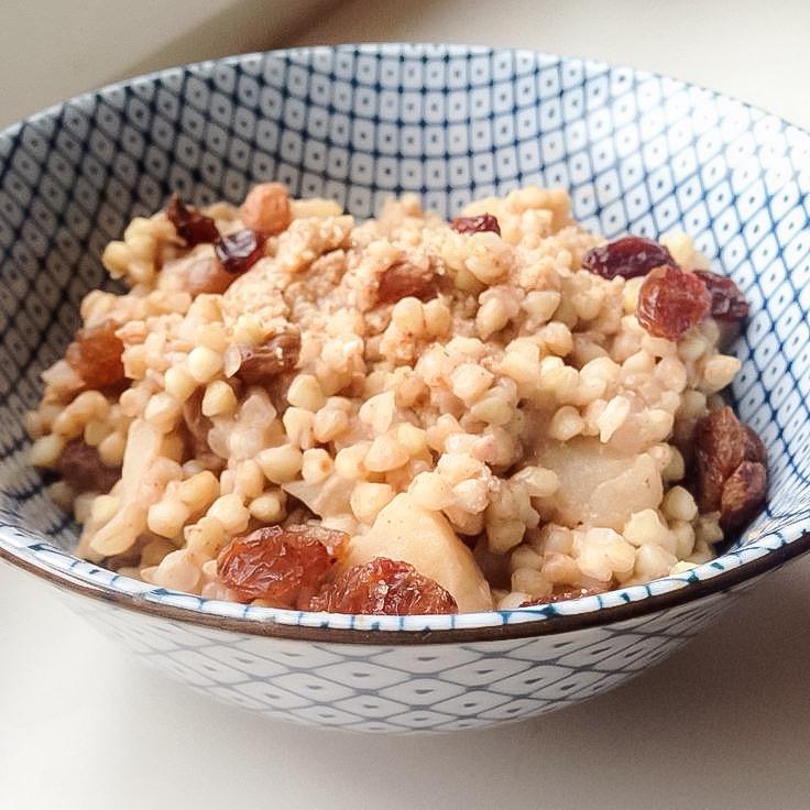 Foodie Friday: overnight boekweit ontbijtje met appel en kaneel