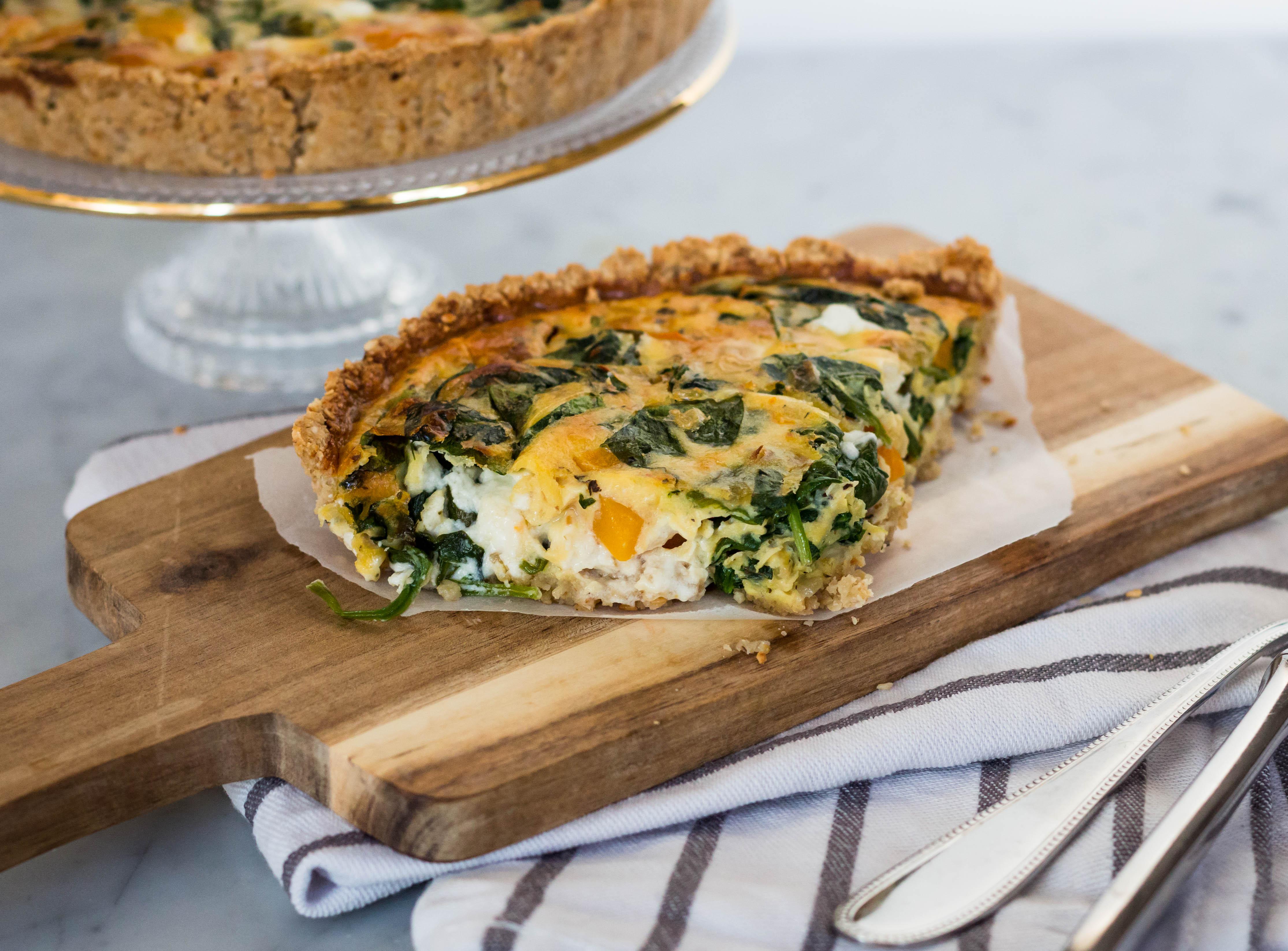 Foodie Friday | Quiche met pompoen, geitenkaas en amandelkorst